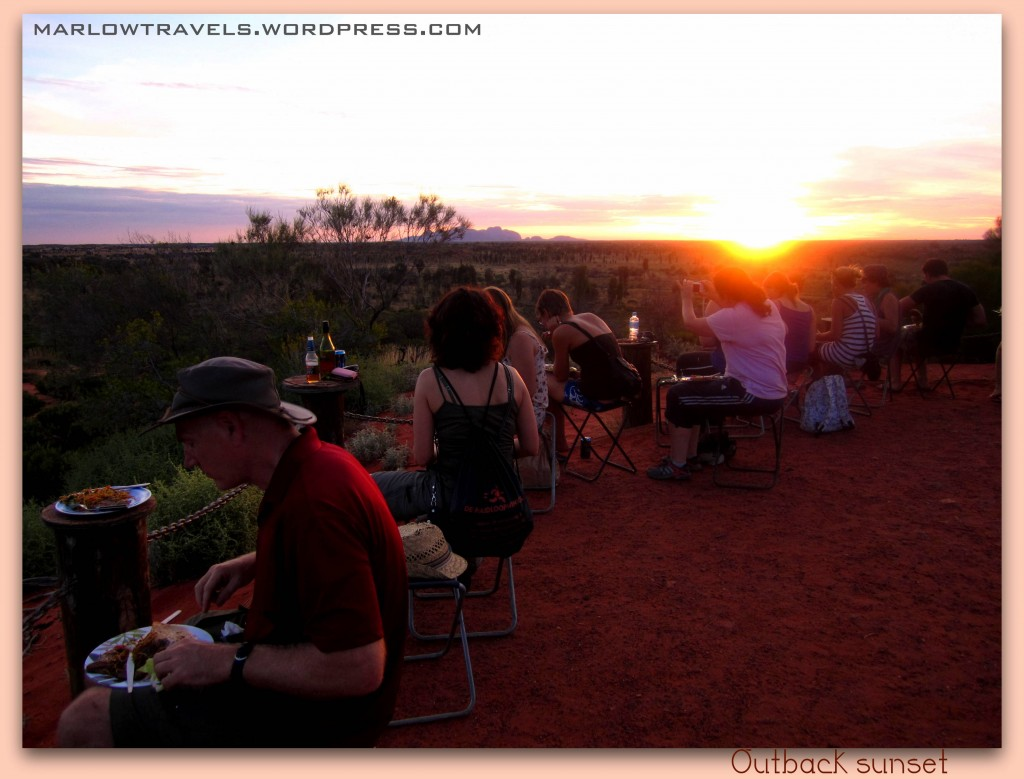 Watching the sunset in the Outback, Australia | via It's Travel O'Clock