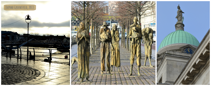 Docklands Dublin, famine statue and custom house It's Travel O'Clock