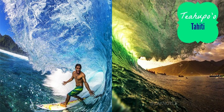 Great surf at Teahupo'o in Tahiti #surf | It's Travel O'Clock