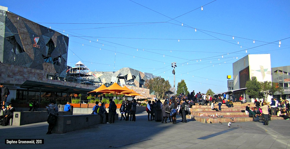 Get together in Melbourne's beating heart - Federation Square | via It's Travel O'Clock
