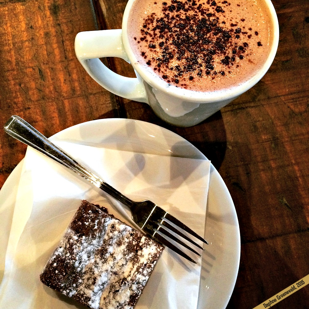 Delicious brownies at The Kitchen & Pantry in Chiswick, London | via It's Travel O'Clock