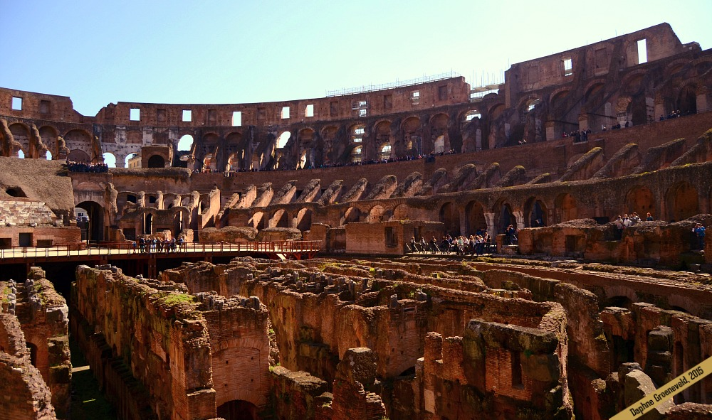 The outside of the Colosseum is far more impressive than the inside | via It's Travel O'Clock