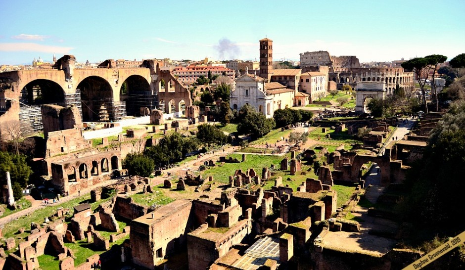 You get a stunning view over ancient Rome from the Forum Romanum | via It's Travel O'Clock