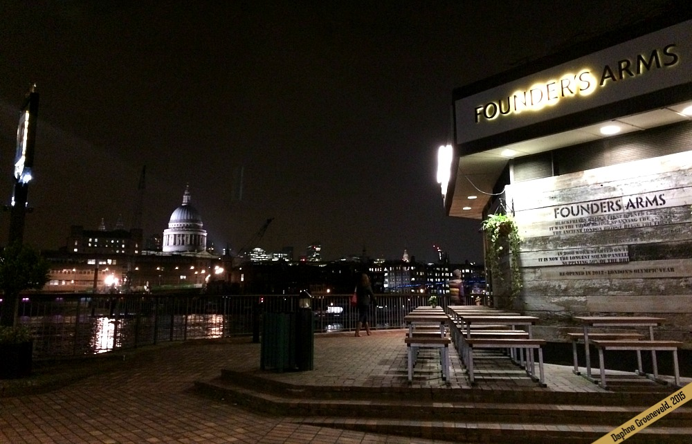 The view from the Founders Arms pub in London over St. Paul's Cathedral is to die for | via It's Travel O'Clock