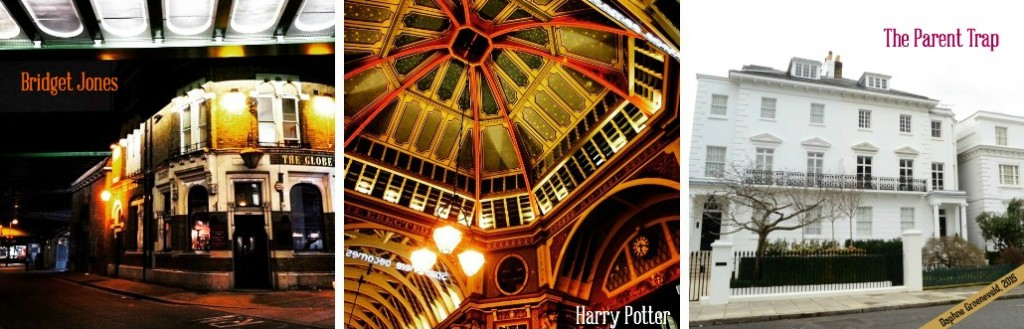 The film locations of Bridget Jones, Harry Potter and The Parent Trap in London | via It's Travel O'Clock