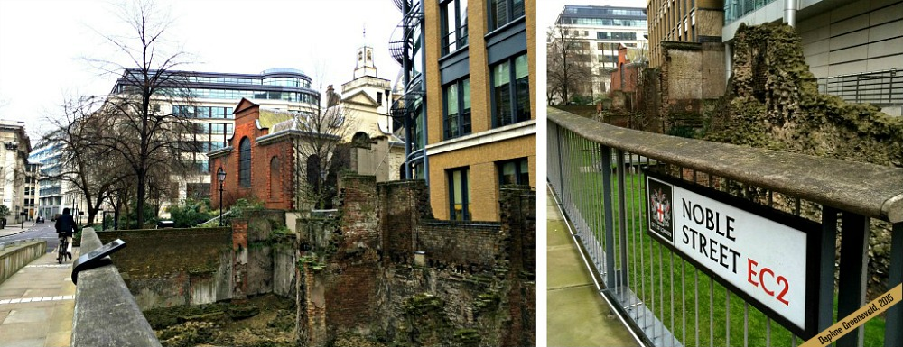 The London Wall can be found in Noble St. in The City | via It's Travel O'Clock